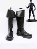 DC Comics Nightwing Black Superhero Boots