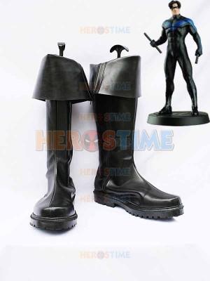 DC Comics Nightwing Black Superhero Boots