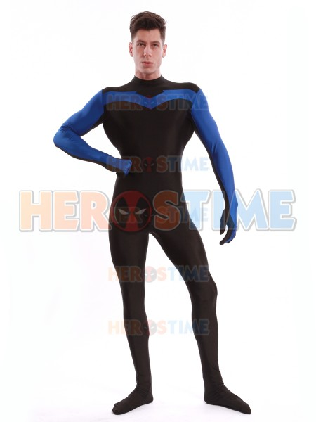 Nightwing Costume For Kids Blue & Black Night...