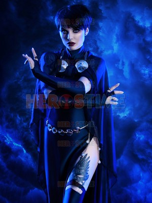 Navy Blue Raven Suit DC Comics Female Spandex Cosplay Costume
