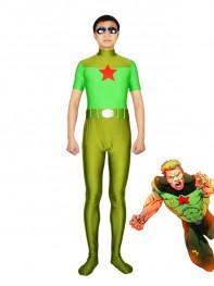 DC Comics Red Star Spandex Superhero Costume