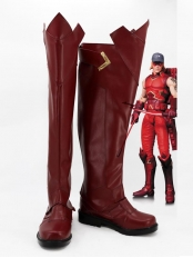 Red Arrow Roy Harper Dark Red Cosplay Boots