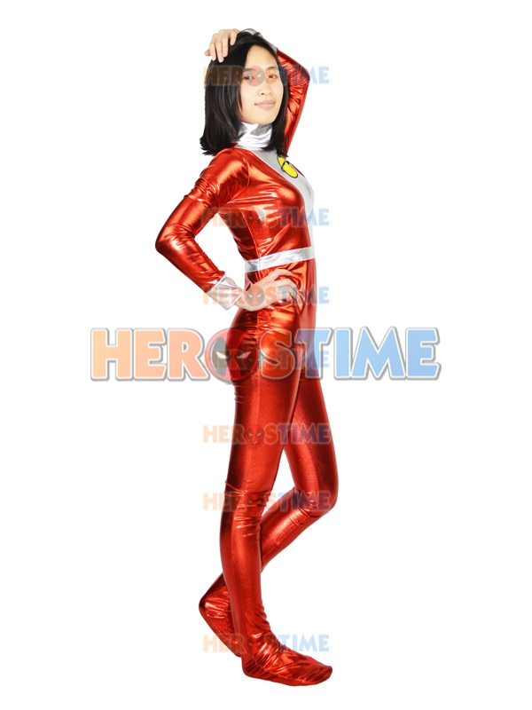 Dc Comics Saturn Girl Shiny Metallic Superhero Costume