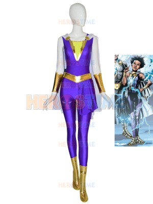 Darla Dudley Suit Shazam Family Cosplay Costume With Cape