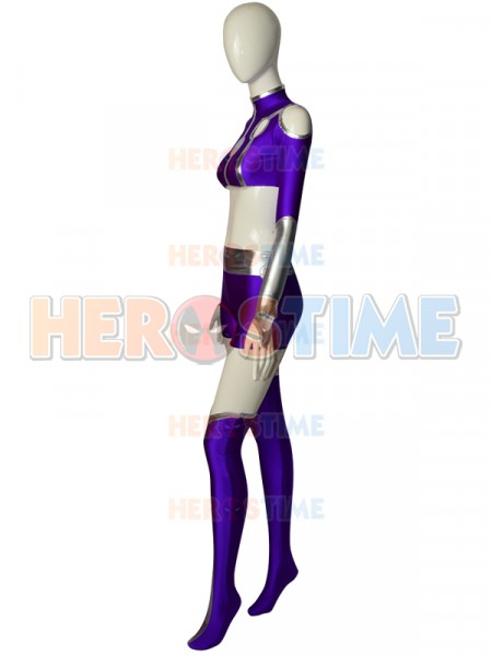 Starfire Spandex Cosplay Suit Teen Titans Superhero Costume-9997