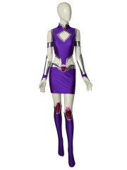 Starfire Spandex Suit Teen Titans Superhero Cosplay Costume