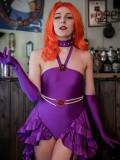 Teen Titans Starfire Girls Superhero Costume