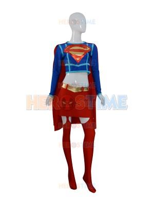 DC Comics Shiny Metallic Supergirl Female Superhero Costume