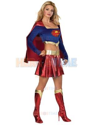 DC Comics Supergirl Shiny Metallic Superhero Costume