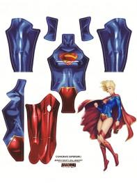 The New 52 Supergirl Printing Female Superhero Cosplay Costume