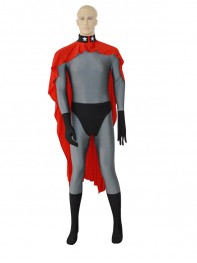 Red Son Superman Grey Superhero Costume