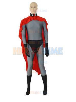Red Son Superman Grey Superhero Costume