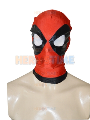 2014 Black & Red Deadpool Spandex Hood