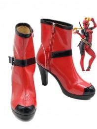 2017 New Style Lady Deadpool Superhero Boots