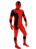 Classic Red & Black Dealpool Spandex Deadpool Costume