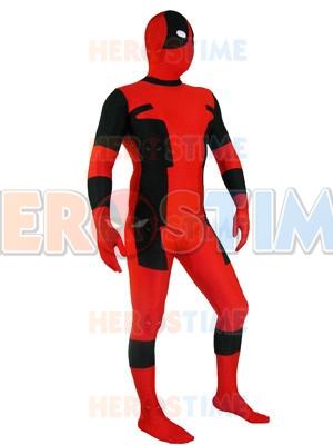 Classic Red & Black Dealpool Spandex Deadpool Costume