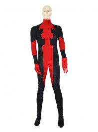 Custom Red Mens Deadpool Costume