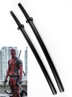 Deadpool Marvel Comics Superhero Double Katana Swords With Strap