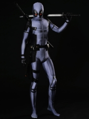 X-Force Deadpool Costume Grey Deadpool Cosplay Suit