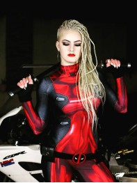 Lady Deadpool 3D Printed Cosplay Suit No Mask