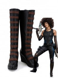 Deadpool 2018 Deadpool 2 Domino High-end Cosplay Boots