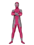 Marvel Comics Fushia & Gray Spandex Deadpool Costume