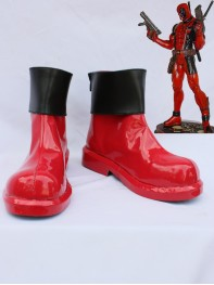 Marvel Comics Deadpool Red & Black Short Cosplay Boots