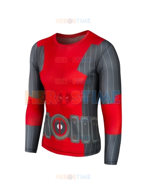 Newest Deadpool Pattern Superhero Quick Dry Tee