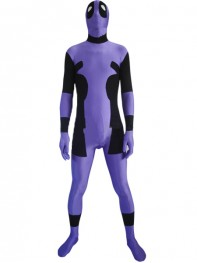 Purple & Black Spandex Deadpool Costume