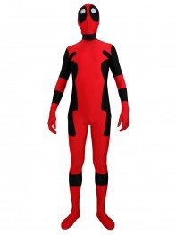 Red & Black Deadpool Spandex Deadpool Costume