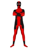 red and black deadpool costume