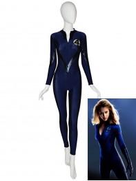 Navy Blue & Black Front Zipper Fantasitic Four Superhero Costume