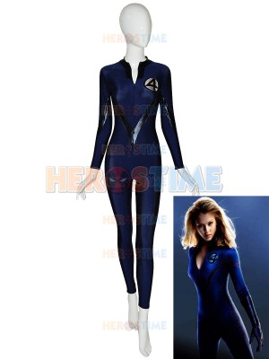 Navy Blue & Black Front Zipper Fantasitic Four Superhero Costume