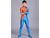 Fantastic 4 Costume Human Torch On Fire Suit