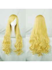 Fantastic Four Invisible Girl Gold Long Curly Wig