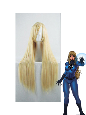 Fantastic Four Invisible Woman Pale Gold Long Wig