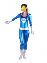 Fantastic Four Shiny Metallic Mr. Fantastic Superhero Costume