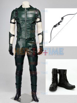 DC Comics Superhero Arrow Season 4 Cosplay Full Set