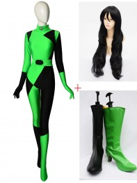 Shego Of Kim Possible Super Villain Cosplay Full Set