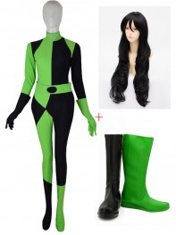 Shego of Disney Kim Possible Cosplay Full Set