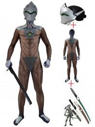 Video Game Overwatch Genji Cosplay Full Set