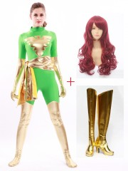 X-men Dark Phoenix Green Cosplay Full Set