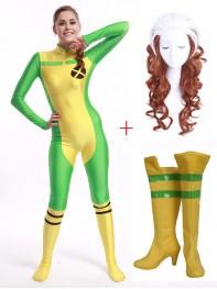 Marvel Comics X-men Rogue Cosplay Full Set