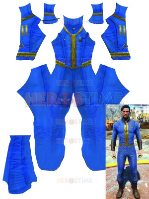 Fallout 4 Sole Survivor Cosplay Costume Printed Spandex Suit