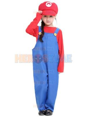 2017 Kids Mario And Luigi Costumes Super Mario Bros/Brothers Halloween Costume