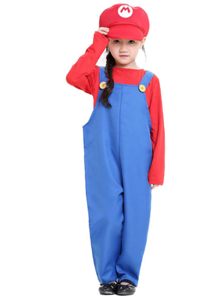 2017 Kids Mario And Luigi Costumes Super Mario Bros/Brothers Halloween Costume  sc 1 st  Herostime.com & Mario And Luigi Costumes Super Mario Bros/Brothers Halloween Costume