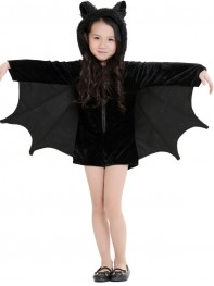 Black Batgirl Halloween Costume Girls Fancy Dress