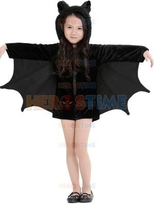 Black Batgirl Halloween Costume Girls Fancy Dress