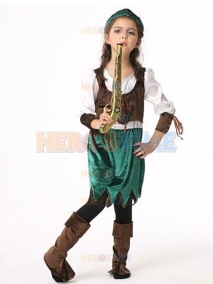 Dazzling Pirate Fancy Dress Halloween Buccaneer Kids Cosplay Costume