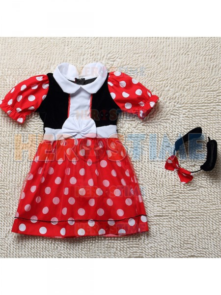 sc 1 st  Herostime.com & Girl Minnie Mouse Halloween Costume Kids Fancy Costume